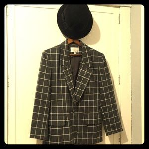 100% Wool JH Collectibles Made in USA Blazer Plaid